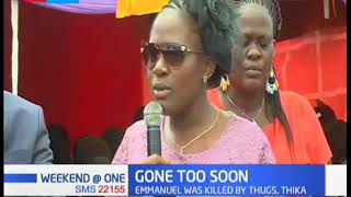 KTN\'s Mary Kilobi mourns her brother who was killed by thugs in Thika