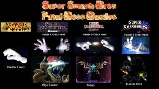 Super Smash Bros. Series - All Final Boss Battles!