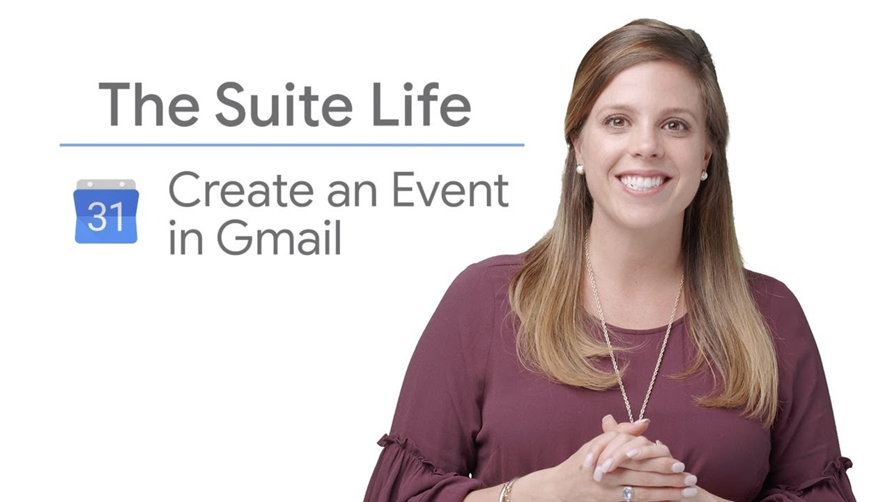 On this episode of The Suite Life, Laura Mae Martin shows you how to create a calendar event in Gmail and make scheduling seamless.