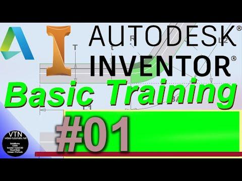 AutoDesk INVENTOR Basic Training 01 Introduction - YouTube