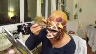 Sky Vega Special Effects Makeup Foam Latex Giraffe Application&10 Fun Facts About The Artist!