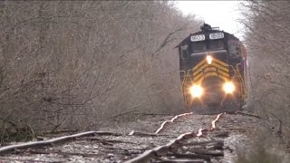 Blasting down bad track Doubleheader on the ND&W Railway (Maumee and Western)