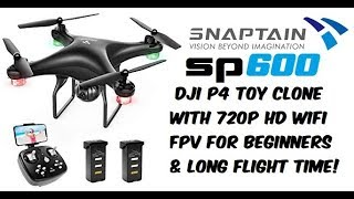 Snaptain SP600 720P Wifi FPV Drone Review - Great Flyer with Long Flight Time!