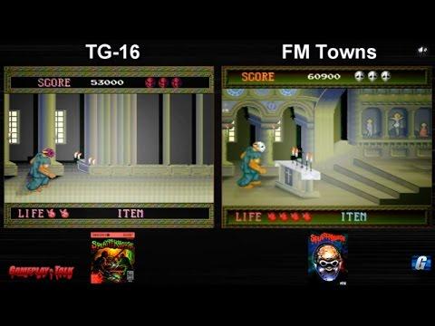 Dual Play - Splatterhouse (Turbo Grafx + FM Towns longplay)