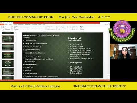 ENGLISH COMMUNICATION - PART - 4 By - MS KOMAL