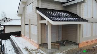 Обзор со стройки дома по индивидуальному проекту