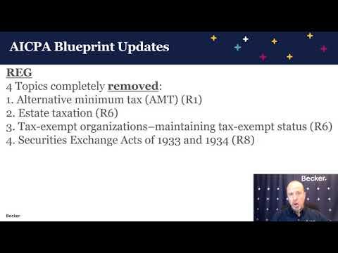 AICPA CPA Exam Blueprint Updates - YouTube