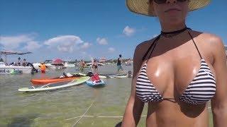 Жаркие Пляжи Майами И Аппетитные Загорелые Девушки