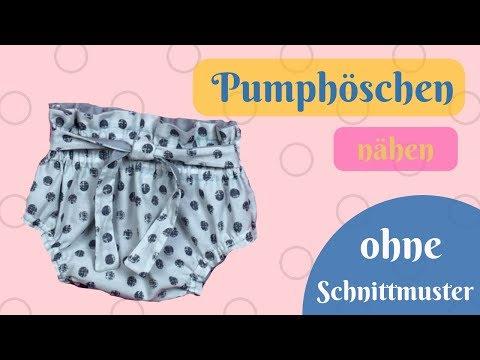Kurze Hose / kurze Pumphose /OHNE Schnittmuster nähen-Schritt für Schritt Nähanleitung für Anfänger