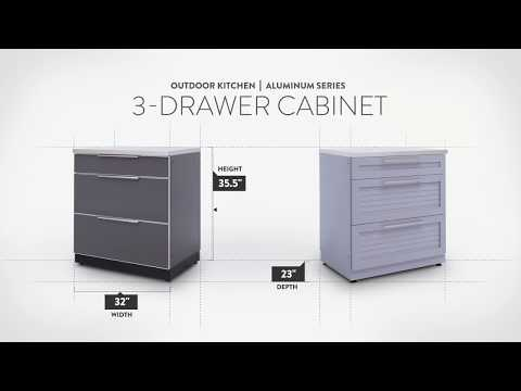 NewAge Aluminum Triple Drawer Cabinet