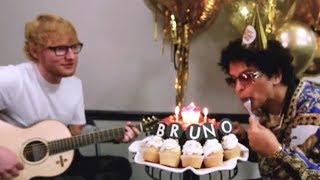 Bruno Mars HIRES Ed Sheeran to Sing Him 'Happy Birthday'