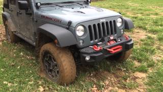 2015 Jeep Rubicon Hard Rock in thick mud.