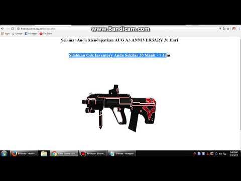 Video Cara Mendapatkan Senjata Gratis AUG 30Hri PB Garena 2017   100%Works