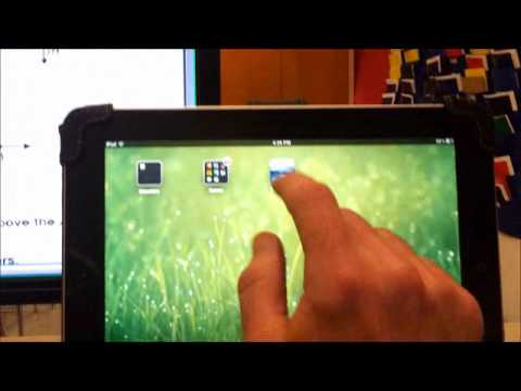 Screenshot of video: How to link your whiteboard to a student's iPad