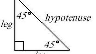 Math Help: Special Triangles, The 45-45-90 Triangle