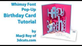 Happy Birthday Card Whimsy Font Tutorial