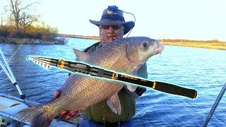 REVIEW: Goture SWORD Telescopic Carbon Fiber Rod.  Live fishing test. Huge Fish caught!