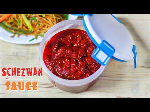 Homemade Schezwan Sauce Recipe   Schezwan Chutney Recipe In Hindi   Mintsrecipes   Ep-231