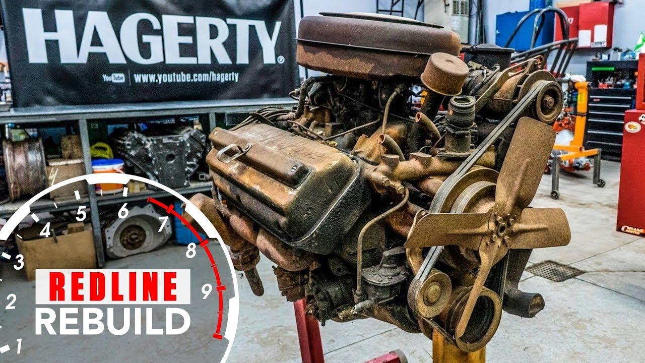 Капиталка двигателя Chrysler Hemi в ускоренной перемотке - Круто!