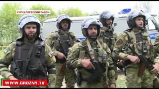Спецподразделения Курчалоевского и Веденского районов провели совместные учения