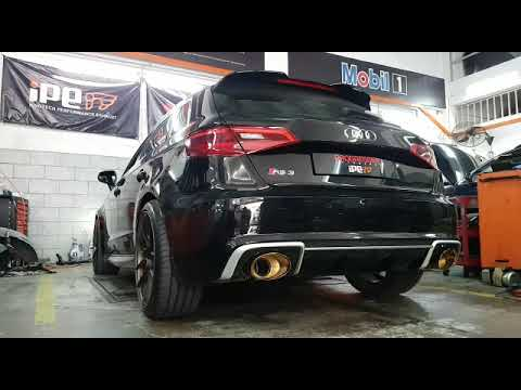 Audi RS3 Malaysia with IPE Catback Titanium Gold Exhaust System