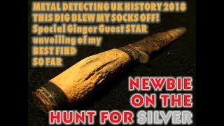 Newbie Grabs Ancient Silver Hammered Coin Metal Detecting UK 2018
