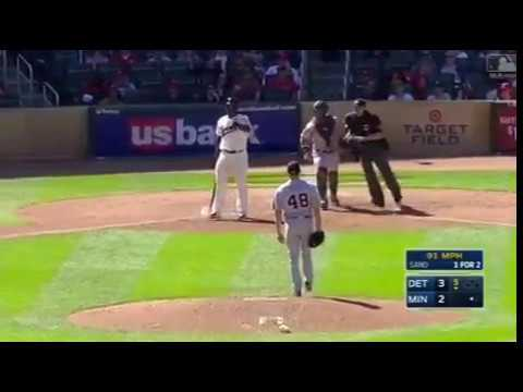 Tigers and Twins fight after hit by pitch | Detroit Tigers and Minnesota Twins brawl from HBP