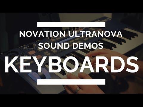 Novation Ultranova - Keyboard Sounds Demo - EVERY SOUND!