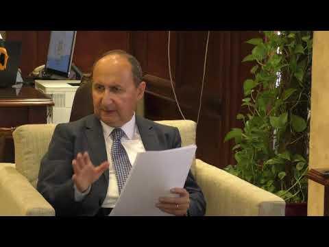 لقاء المهندس/عمرو نصار وزير التجارة والصناعة مع سفير المانيا بالقاهرة