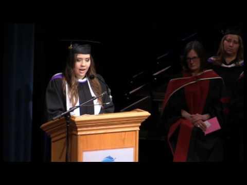 Valedictorian speech - June 7, 2016 (morning) - Vancouver Island University convocation