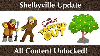 The Simpsons Tapped Out: Shelbyville Update - All Content Unlocked