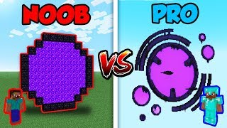 Minecraft NOOB vs. PRO: GIANT NETHER PORTAL in Minecraft!