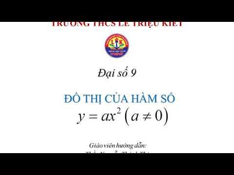 ĐỒ THỊ HÀM SỐ y=ax^2 là PARABOL