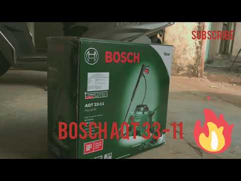 Unboxing BOSCH AQT 33-11 | High pressure car wash | Review and results.