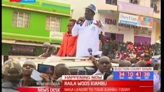 Raila woos Kiambu : Raila Odinga addresses Kiambu residents