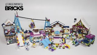 Lego Friends Ski Resort Ski Lift with Chalet Ice Rink Off-Roader and Hot Chocolate Van
