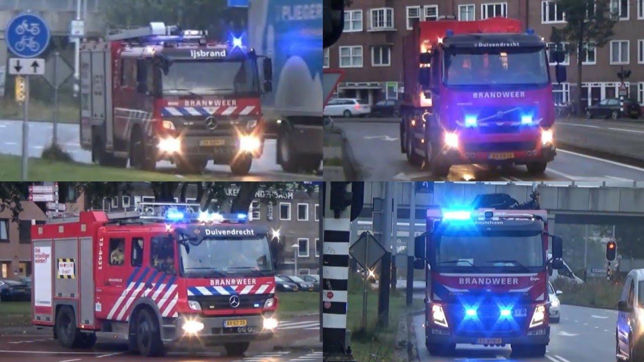 Vele hulpdiensten met spoed naar een Zeer Grote Brand Grip1 Krelis Louwenstraat in Amsterdam