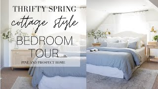 Thrifty Spring Cottage Style Bedroom Tour