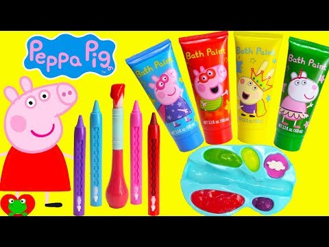 Preschool Learning Video Learn Colors Peppa Pig Play with Paints