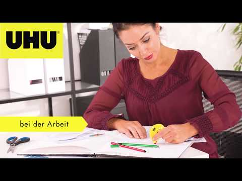 UHU Kleberoller permanent   Papier sauber kleben ohne Trocknungszeit