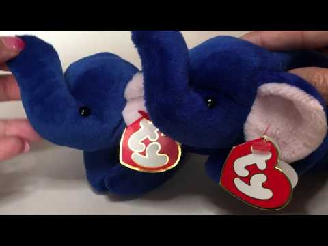 Ty Beanie Baby Royal Blue Peanut - Fake vs Authentic