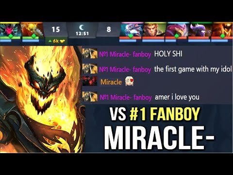 EPIC Miracle- Shadow Fiend vs His Number #1 Fanboy! Non-Stop Gank Mid Crazy Gameplay Dota 2