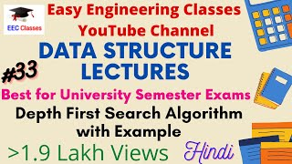 Depth First Search Algorithm In (Hindi, English) With Example