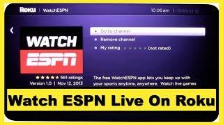 Watch ESPN Live On Roku