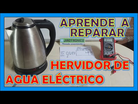 Como reparar hervidor de agua, pava eléctrica o jarra eléctrica  paso a paso