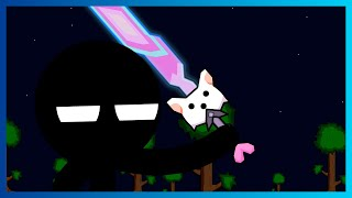 What if Jack CopperZ gets the Meowmere [Stickmen VS Terraria Bosses Parody]