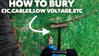 How to bury cables using a Wampler