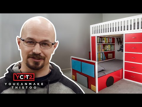 Build Firetruck Bunk Beds with Stairs and Storage | How To