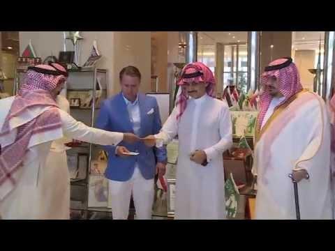 الوليد بن طلال يسلم المكافآت لنادي الهلال بحضور الأمير عبدالرحمن بن مساعد