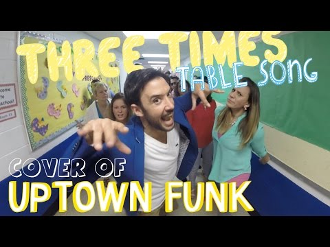 Three Times Table Song (Cover of Uptown Funk by Mark Ronson and Bruno Mars)